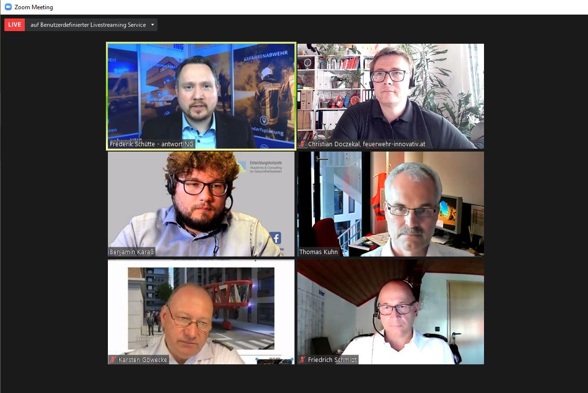 Talkshow zur Digitalisierung in der Gefahrenabwehr